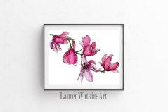 Magnolias - Watercolor