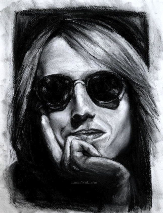 Tom Petty - Charcoal