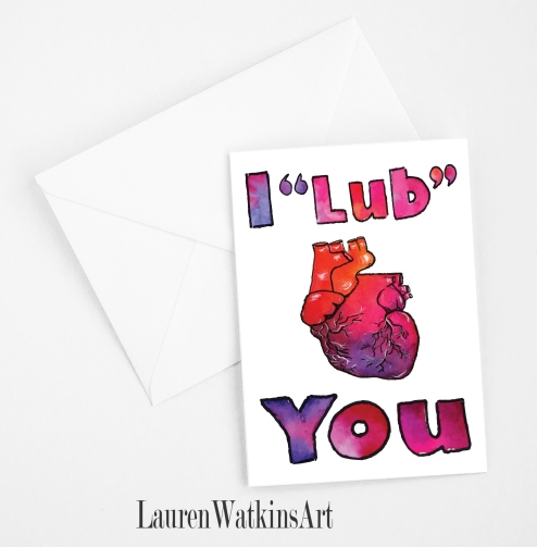 I Lub You card