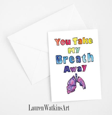 you take my breath Away card