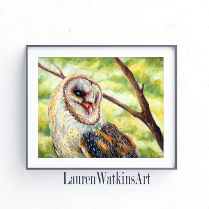 Tree Barn owl Etsy